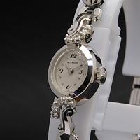 ウィットナー 14KWG ダイヤ装飾 レディースウオッチ
