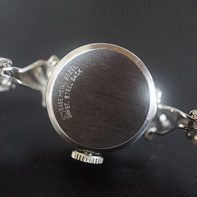ビューレン ホワイトメタリックダイアル 手巻き エクステンションブレス カットガラス仕様 レディースアンティークウオッチ